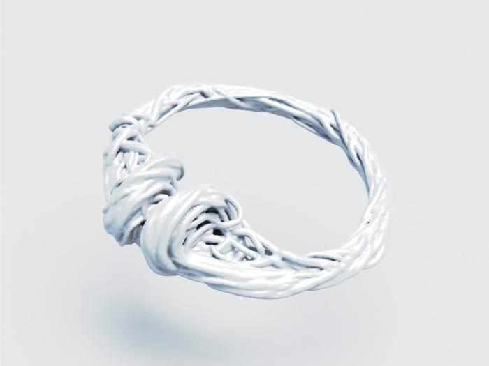 J.Pernecky, prsten boid, generativny dizajn, 3D tlac nerez ocel